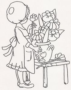 Girl Putting Flowers in Vase   Flickr - Photo Sharing!