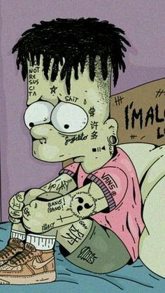Wallpaper Iphone Space:Bart Simpson - little bit different Cartoon Wallpaper, Simpson Wallpaper Iphone, Sad Wallpaper, Tumblr Wallpaper, Wallpaper Backgrounds, Iphone Wallpaper, Medical Wallpaper, Screen Wallpaper, Cartoon Kunst