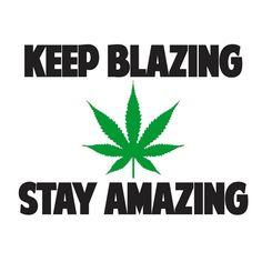 Ladies KEEP BLAZING STAY AMAZING T-SHIRT stoner high weed 420 THC WOMENS tee