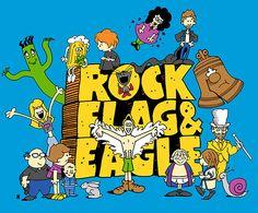 Rock, Flag & Eagle--Art Print 8x10. $20.00, via Etsy.