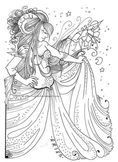 Timelapse Coloring Book Art Maharani By Cristina McAllister