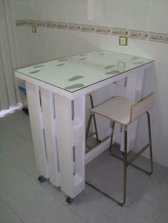 Fabriquer un bureau avec des palettes! 20 idées pour vous inspirer…