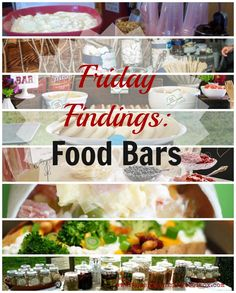 Food Bars - ideas for breakfast, lunch, dinner, and snacks - great for all kinds of Women's Ministry events. #womensministry