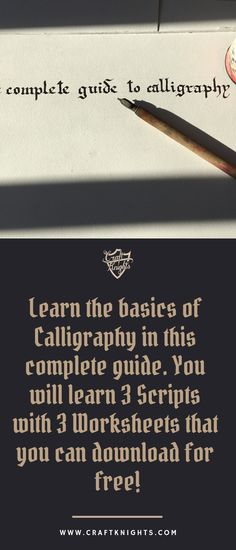 In this tutorial, I will show you how to prepare your nib, pen and your paper, the foundations of calligraphy and I will teach you your first three Scripts with free worksheets! #caligraphy #learncalligraphy  #calligraphytutorial #calligraphyguide #tools #tutorial #calligraphy