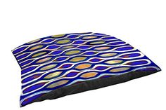 Thumbprintz Fleece Top Large Breed Pet Bed Indigo Geometric Blue * Want to know more, click on the image.