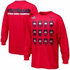 Nike Boston Red Sox 2013 MLB World Series Champions #GetBeard Celebration Long Sleeve T-Shirt - Red #BostonStrong #GetBeard #RedSox