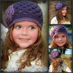 On Sale Now The AML Beanie Purple Infant-Adult Sizes Available on Etsy, $18.95