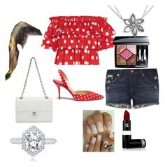 """""""Polka dot picnic"""" by someedgychick on Polyvore featuring Caroline Constas, Paul Andrew, rag & bone, Christian Dior, Lipstick Queen and Chanel"""