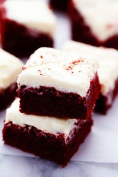 Red Velvet Brownies with Cream Cheese Frosting | The Recipe Critic