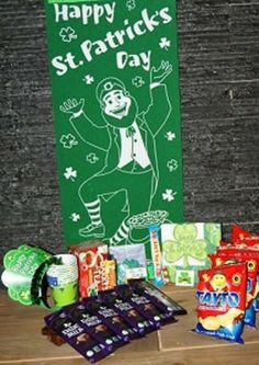 A party pack full of Irish goodies and party ware for a party anywhere in the world. Order now for your friends or loved ones who not be able to celebrate Patricks Day at home this year Being In The World, Party Packs, Happy Day, St Patricks Day, First Love, Irish, Goodies, Cards, Ireland