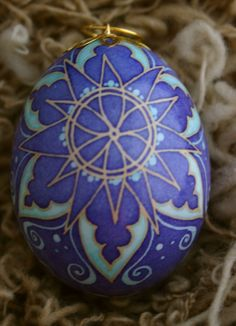 Pysanky Snowflake Duck Ornament Egg End of year by DragonflyTrail