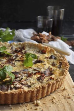 NINA'S COOKING  Quick biltong quiche with an almond flour pastry.