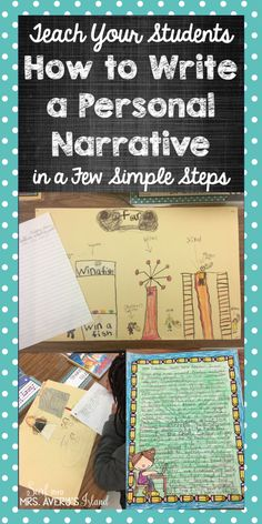 No longer does writing have to be dreaded in any classroom by any student. Click here to see how to teach your students to be creative writers and produce quality personal narratives in just a few simple steps!