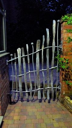 Seriously gorgeous, bespoke garden gates by David Freedman, an artist blacksmit. Seriously gorgeous, bespoke garden gates by David Freedman, an arti Metal Garden Gates, Metal Gates, Iron Gates, Metal Fences, Garden Doors, Gazebos, Forging Metal, Welded Metal Art, Fence Gate