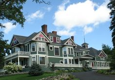 Architecture | Queen Anne Victorian - Greenville Inn at Moosehead Lake, located in Greenville, Maine
