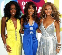 Kelly Rowland, Michelle Williams and Beyonce Knowles of Destiny's Child
