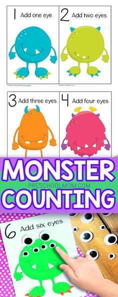 These free Monster Counting Mats bring fun and learning together for a highly engaging math activity. Your students will get a kick out this fun activity set, and they'll be learning as they play! Students work on number recognition, and reading early nu Preschool Learning Activities, Preschool Printables, Preschool Crafts, Fun Learning, Monster Activities, Learning Shapes, Number Activities For Preschoolers, Maths For Toddlers, Preschool Number Crafts
