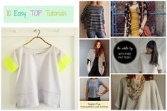 FREE SEWING PATTERNS: 10 Easy TOP Tutorials