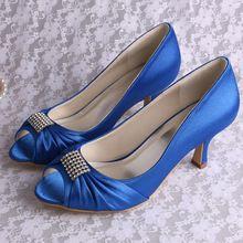 Magic mariée marque ( 11 couleurs ) Satin bleu chaussures de soirée pour mariage ouvrir orteils 6.5 CM talon livraison gratuite(China (Mainland))