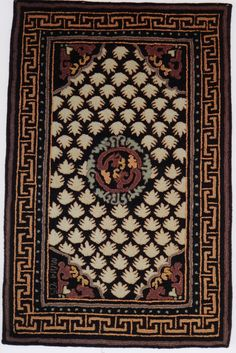 Chinese Carpet Source motifs from two Chinese carpets 19th Century.