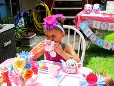 nslittleshop party decorations and more: Mad Hatter Tea Party for Preslie