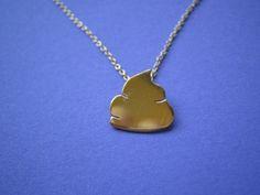 The Deuce Charm Necklace-14 Karat Gold. $88.00, via Etsy.