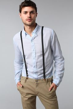 UrbanOutfitters.com > The Suspender Factory of San Francisco Solid Skinny Suspender