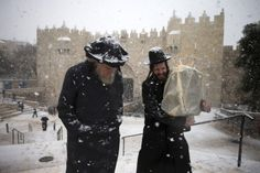 Rare Snow Storms Blanket Jerusalem