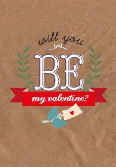 Valentijn wenskaart will you be my valentine? Valentijn postkaart will you be my valentine?is een mooie tijdlozekaart. Stuur deze grote (12 x 17 cm) valentijnskaart naar je geliefde of lijst h...
