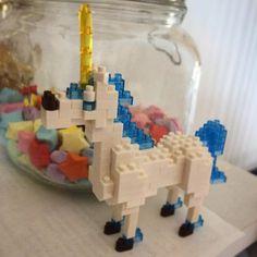 "11 mentions J'aime, 1 commentaires - Rosie Wibberley (@rosiewibbs) sur Instagram: ""Sunday morning creation #Nanoblock #Unicorn #BigKid #Sunday #Lego #WheresTheRainbow"""
