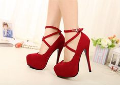 New Red Strappy Heels Pumps Sexy Wedding Club Party Platform High Stiletto Heels Shoes sold by OKProm. Shop more products from OKProm on Storenvy, the home of independent small businesses all over the world. Red Strappy Heels, Platform High Heels, Black High Heels, High Heels Stilettos, Stiletto Heels, Red Platform, Red Prom Heels, Sexy Heels, Pump Shoes