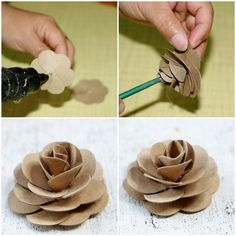 1 million+ Stunning Free Images to Use Anywhere Paper Towel Crafts, Paper Towel Rolls, Toilet Paper Roll Crafts, Cardboard Crafts, Toilet Paper Flowers, Paper Flowers Diy, Flower Crafts, Fabric Flowers, Rose Crafts