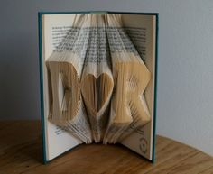 Lover's initials book art-Personalized Wedding Gift- book art- book origami -made to order on Etsy, $60.61