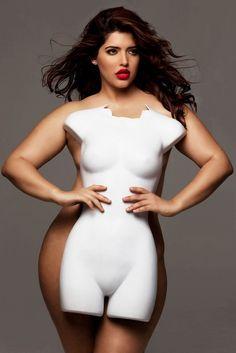 average size mannequin vs average size woman_model Denise Bidot_photog Victoria Janashvili_via cosmopolitan.com