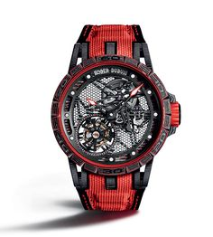 Roger Dubuis Excalibur Spider Carbon Skeleton Flying Tourbillon
