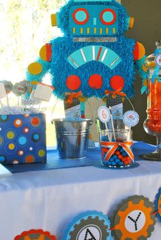 """Photo 17 of 21: Boy Party """"Robot Party""""   Catch My Party"""