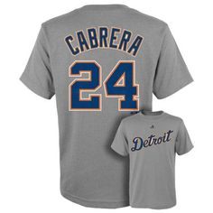 Boys 8-20 Majestic Detroit Tigers Miguel Cabrera Player Name and Number Tee $10.00