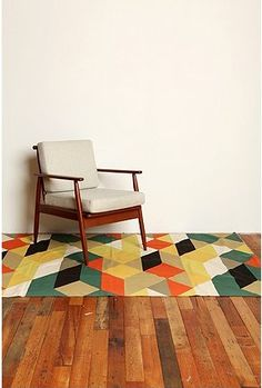 urban outfitters | diamond towers printed rug