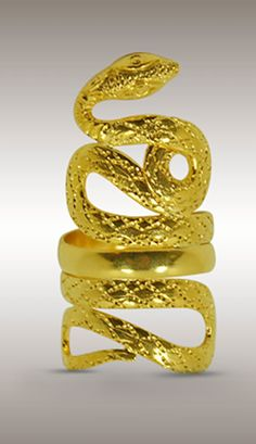 Ilias Lalaounis Animal Heads collection Snake ring.