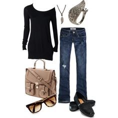 Cute outfit BUUUUT NOT feeling the bag....., created by nataliegrl on Polyvore
