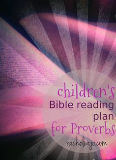 A chapter in Proverbs a day is great, but this plan breaks it down for kids or folks with short reading times available to work with! MORE ideas for reading Proverbs in this post!