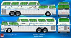 DESENHOS DE ONIBUS BRASILEIROS E ONIBUS GTA/PTTM: Greyhound Scenicruiser GMC