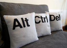 As a web geek, I love these button like cushions