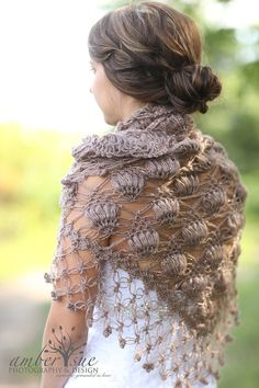 Bridal ShrugBrown ShawlShawl Wedding Shawl and Shrug