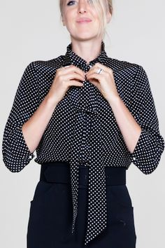 EmersonMade polka dot ribbons blouse. $188