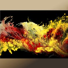 Abstract Modern Art Paintings - Contemporary Original  Art by Destiny Womack - dWo -Heat of The Moment