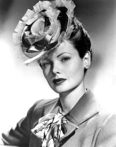 Gene Tierney. Why is it that all the movie stars could pull off ridiculous…