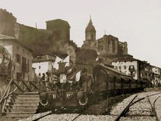 12th September 1888, inauguration of the first tram that linked Bilbao and Portugalete.
