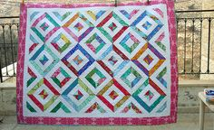 A beautiful quilt made using our summer in the park tutorial http://youtu.be/J5WgTyqB8Pc