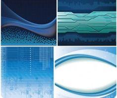 Tech Blue Backgrounds vector